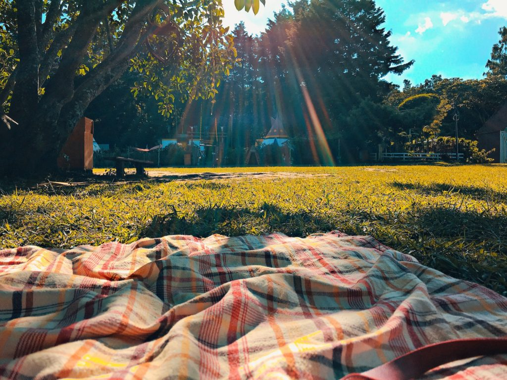 picnic blanket - stay safe outdoors during COVID-19
